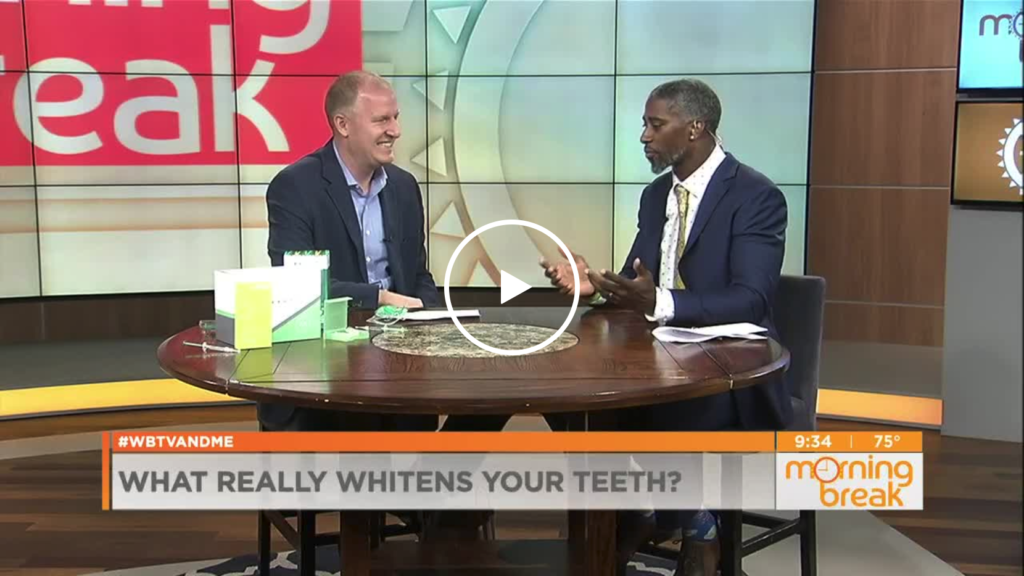 Dr. Farmer With Teeth Whitening Tips on WBTV